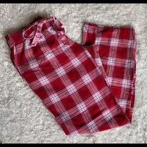 Aero Plaid Red Pink White Lounge Pj Pajama Bottoms